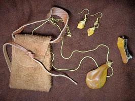 Petrified Wood Jewelry Set