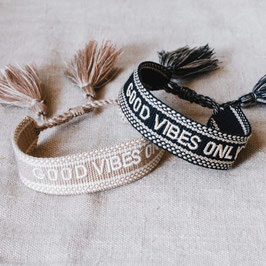 "gewebtes Armband ""Good Vibes Only"" navyblue"