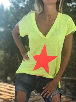 Leinen Tshirts Star