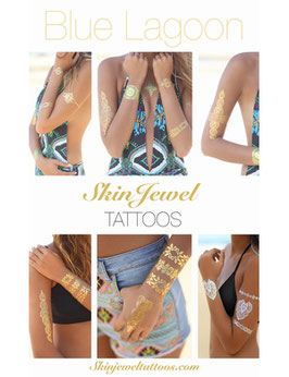 "Skin Jewel Tattoos ""Blue Lagoon"""