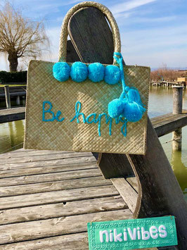 "Basttasche ""Be Happy"""