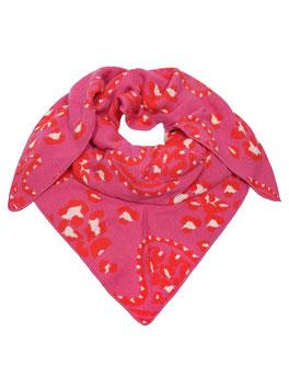 """Zwillingsherz Dreieckstuch """"Paisley"""" mit Cashmere, pink/red"""