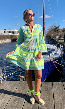 Devotion Dress Ella neon lime/baby blue