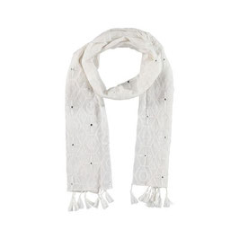 "Scarf ""White Mirror"""