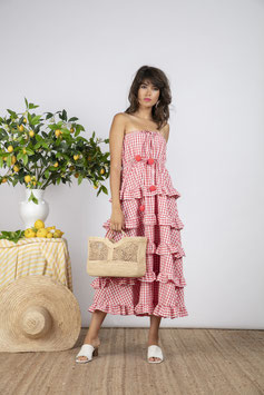 Dress Jasmin gingham red
