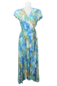 melebeach Dress June Volante loto blue