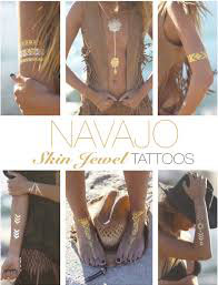 "Skin Jewel Tattoos ""Navajo"""