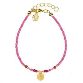 """Bracelet """"Coin Boho Pink"""""""