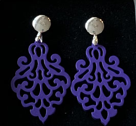 "Ohrringe ""Princess"" lilac silber"