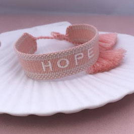 "gewebtes Armband ""Hope"" soft pink"