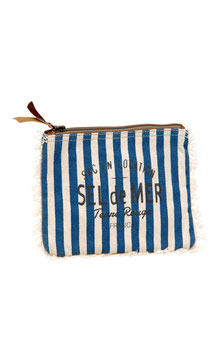 "Canvas Clutch ""Sel de Mer"" Stripes"