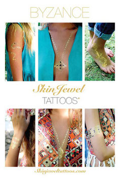 "Skin Jewel Tattoos ""Byzance"""