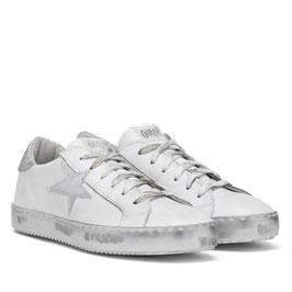 "Leder Sneakers Ovye ""Silver Star"""