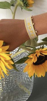 "gewebtes Armband ""Hope"" gelb"