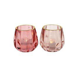 Windlicht rosa/coral