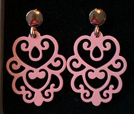 """Ohrringe """"Daisy"""" soft pink/rosegold, Size M"""