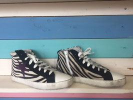 "Leder Star ""Zebrafell"" Sneakers Ovye by Christina Lucci"