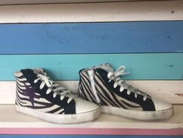 "Leder Star ""Zebrafell"" Sneakers Ovye by Christina Lucci"