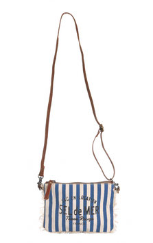 "Canvas Bag mit Gurt ""Sel de Mer"" Stripes"
