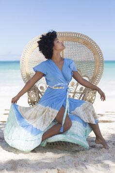 melebeach Dress June Volante mantra blue