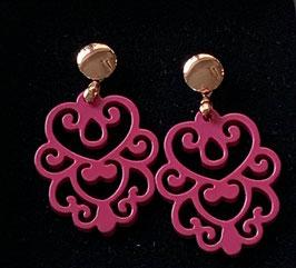 """Ohrringe """"Daisy"""" pink/rosegold Size S"""