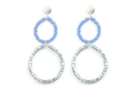 Ohrringe Classy Circle silber/blue