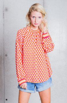 Emily van den Berg Bluse Retro orange/pink