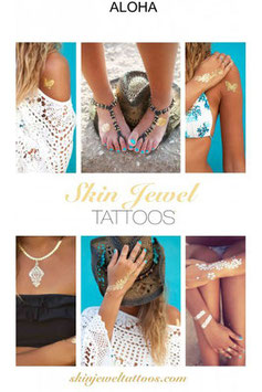 "Skin Jewel Tattoos ""Aloha"""