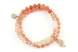 "Armband ""Muschelbank"" coral"
