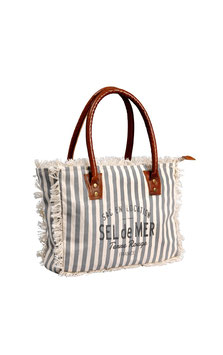 "Canvas Tasche ""Sel de Mer"" Size S Stripes"