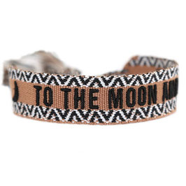 "gewebtes Armband ""To the Moon and back"""