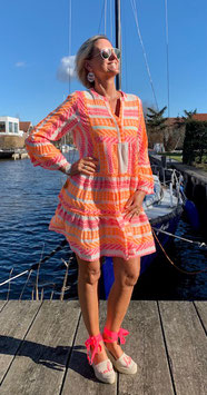 Devotion Dress Ella neon orange/neon pink