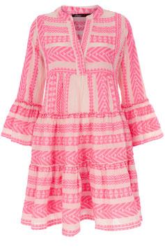 Devotion Dress Zakar/Ella weiß/neon pink