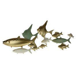 Wandobjekt Fischschwarm