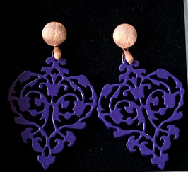 "Ohrringe "" Royal"" lilac/rosegold matt"