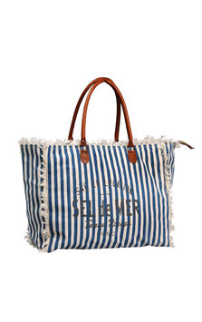 "Canvas Tasche ""Sel de Mer"" Size L Stripes"