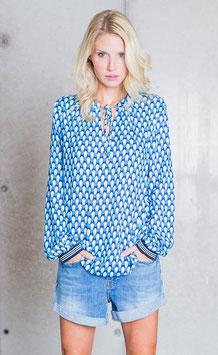 Emily van den Berg Bluse Retro azur/turquoise