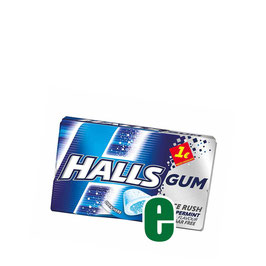 HALLS CHEWING GUM PEPPERMINT GR 18
