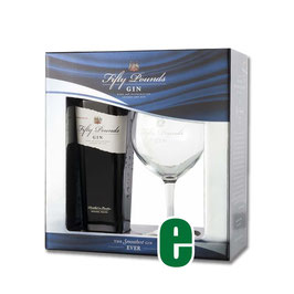FARDO GIN FIFTY POUNDS CL 70 + 1 BICCHIERE