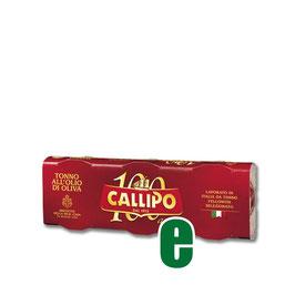 TONNO ALL'OLIO DI OLIVA YELLOFIN CALLIPO GR 80 X 3