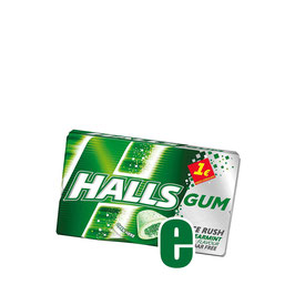 HALLS CHEWING GUM SPEARMINT GR 18