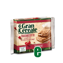 GRAN CEREALE SNACKBISCOTTO YOGURT E MIRTILLI GR 180