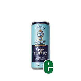 GIN BOMBAY SAPPHIRE & TONIC 0,25 LITRI