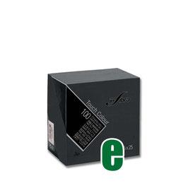 TOVAGLIOLI DOPPIO VELO NERO CM 25 X 25 INFIBRA - 100 PZ