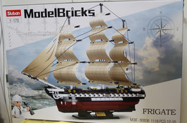 Sluban B0836 Frigate Segelschiff - Model Bricks - OVP