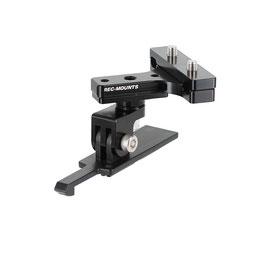 回転式サドルレールマウント タイプ1 for コンツアー アクションカメラ[REC-30RCON]