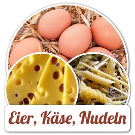 Eier, Käse, Nudeln