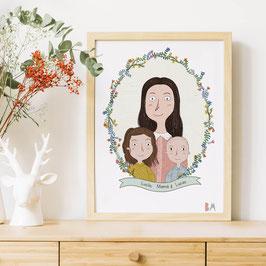 Ilustración personalizada Flores Silvestres
