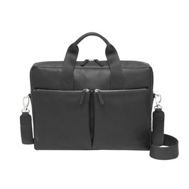 Roeckl München Business Leather Notebook Bag schwarz