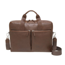 Roeckl München Business Leather Notebook Bag cognac